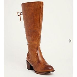 Torrid Distressed Lace Up Back Knee-High Boots